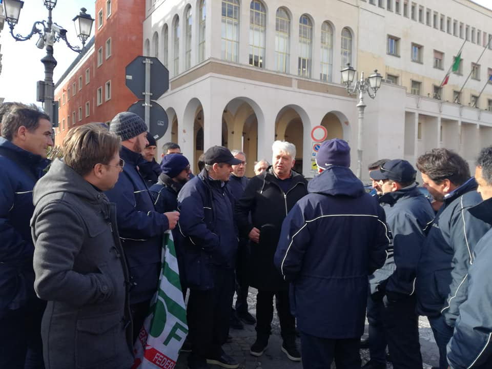 Protesta SITA a Salerno